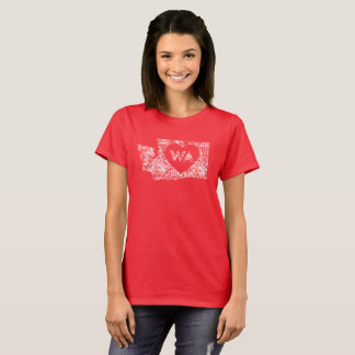 Retro I Love Washington State Women Basic T-Shirt