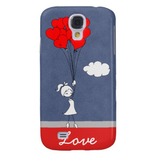 Retro I Love You Valentine's Day Hearts Samsung Galaxy S4 Covers