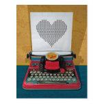 Retro I.T. 50s Vintage Toy Typewriter Post Card