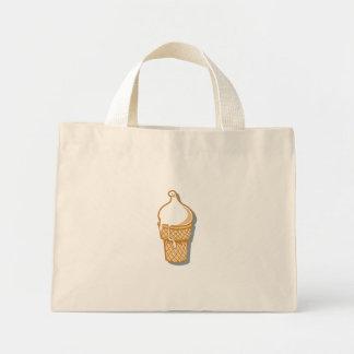 retro ice cream cone mini tote bag