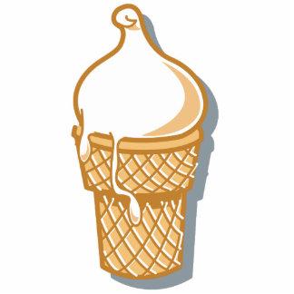 retro ice cream cone photo sculpture