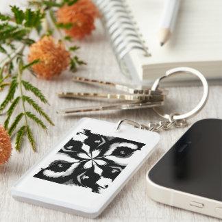 Retro Image 4 Black & White Acrylic Keychain
