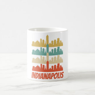 Retro Indianapolis IN Skyline Pop Art Coffee Mug