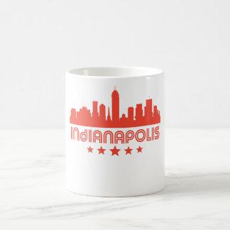 Retro Indianapolis Skyline Coffee Mug