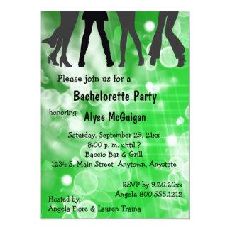 Retro Inspired Green Bachelorette Party Invitation