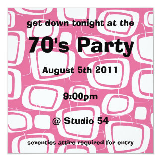 Retro Invitation (pink)