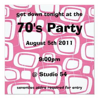 Retro Invitation (pink)