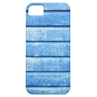 Retro iPhone case with blue wooden background