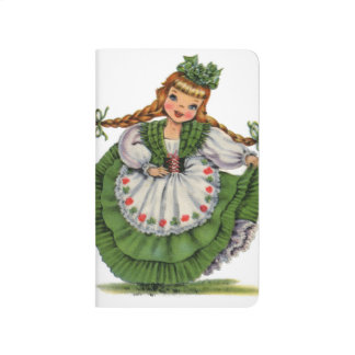 Retro Irish Doll dancer with plaits take a bow Journal