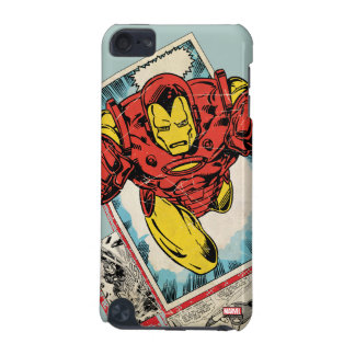 Retro Iron Man Flying Out Of Comic iPod Touch 5G Cases