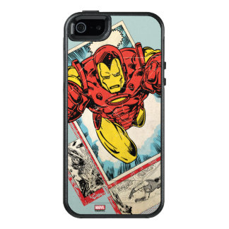 Retro Iron Man Flying Out Of Comic OtterBox iPhone 5/5s/SE Case