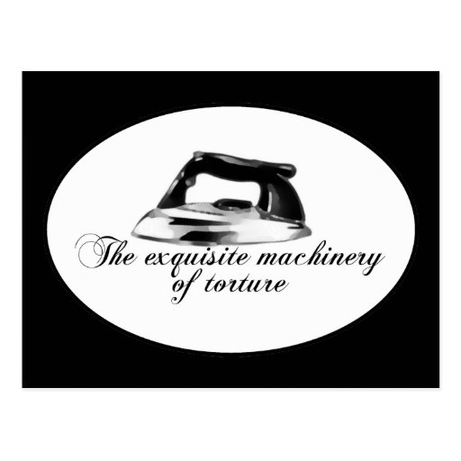 Retro Iron - The Exquisite Machinery Of Torture Post Card