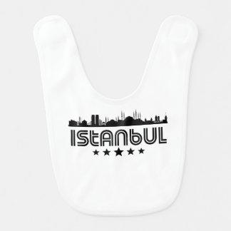 Retro Istanbul Skyline Bib