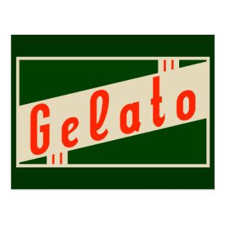 retro italian gelato postcard