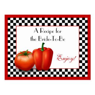 Retro Italian Recipe Card for the Bride to Be