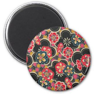 Retro Japanese Kimono Origami Sakura Flower Magnet