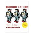 Retro Japanese Toy Robot Advertisement Postcard