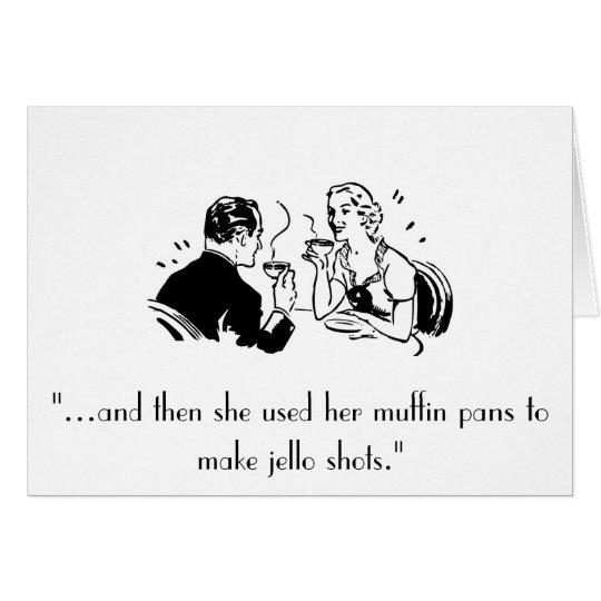 Retro Jello Shots Humour Birthday Card