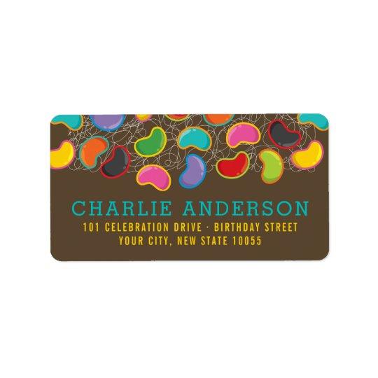Retro Jellybeans Pop Kid's Birthday Address Labels