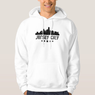 Retro Jersey City Skyline Hoodie