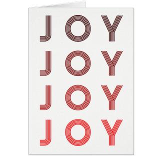 Retro Joy | Modern Holiday Photo Card