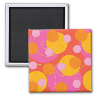 Retro Juicy Pink Magnet