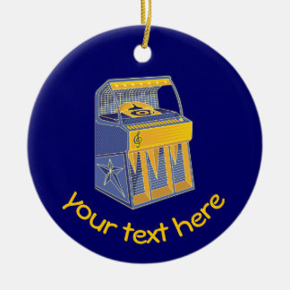 Retro Jukebox Ceramic Ornament