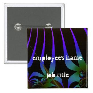 Retro Jungle Employee Name Tag Button