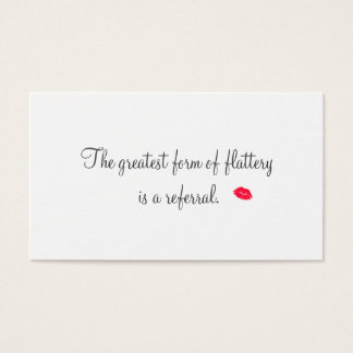 Retro Kissing Lips Cosmetology Referral Card