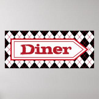 Retro Kitchen Diner Sign Wall Art Poster Decor