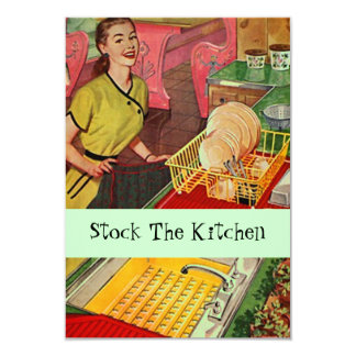 Retro Kitchen Stock The Kitchen Shower Invitation