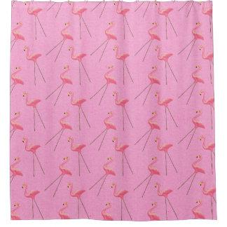 Retro Kitsch Pink Flamingo Shower Curtain