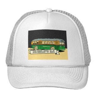 Retro Kitsch Vintage Twin Coach Bus 31-R Trucker Hats