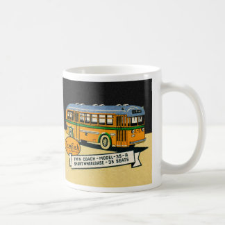 Retro Kitsch Vintage Twin Coach Bus 35-R Mug