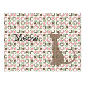 Retro Kitty Cat Postcard
