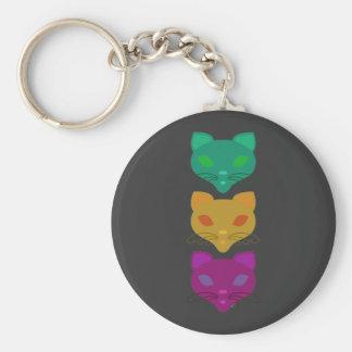 Retro Kitty Trio Keychain