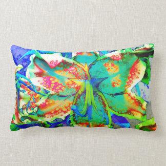 Retro kiwi Lily Lumbar Cushion