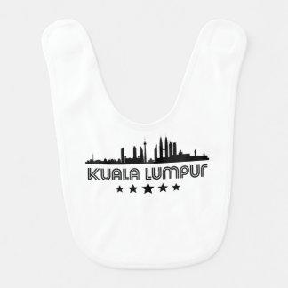 Retro Kuala Lumpur Skyline Bib