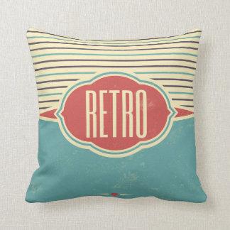 Retro Label Designer Accent Pillows