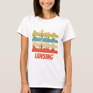 Retro Lansing MI Skyline Pop Art T-Shirt