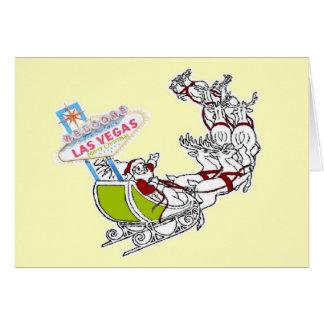 Retro Las Vegas Santa with LV Sign Card
