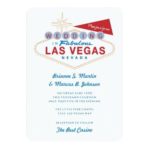Retro las vegas sign casino wedding invitation zazzle for Las vegas sign wedding