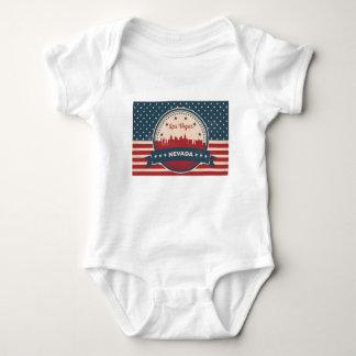 Retro Las Vegas Skyline Baby Bodysuit