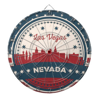 Retro Las Vegas Skyline Dartboard