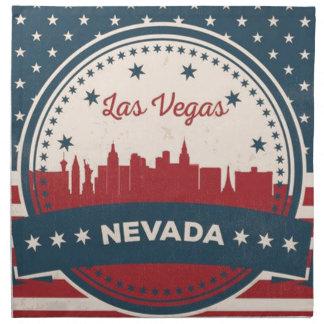 Retro Las Vegas Skyline Napkin