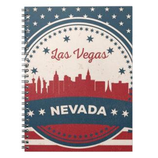 Retro Las Vegas Skyline Notebook