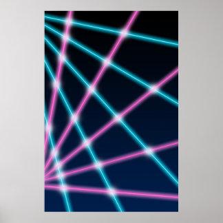 Retro Laser Beam School Portrait Photo Backdrop Poster