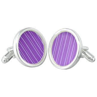 Retro Lavender Purple Stripe Cuff Links