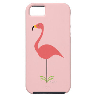 Retro Lawn Flamingo with Customizable Background Tough iPhone 5 Case