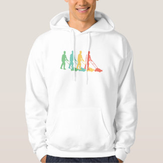 Retro Lawn Mowing Pop Art Hoodie